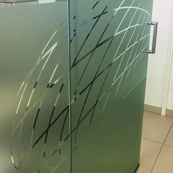 Glastüren sandstrahlfoliert